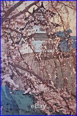 HIROSHI YOSHIDA VTG Hirosaki Castle Japanese Woodblock Print