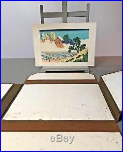 HOKUSAI 36 VIEWS OF MOUNT FUJI. JAPANESE WOODBLOCK PRINT. VINTAGE EDITION. No 4