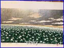 Hajime NamikiHill-3 PotatoJapanese Original Woodblock Print Autographed