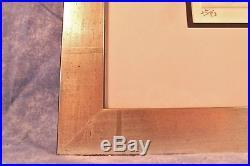Haku Maki Signed Ed 25/83 Abstract Modern Embossed Japanese Woodblock Print VTG