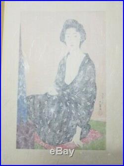 Hashiguchi Goyo Japanese Woodblock Print Summer Kimono