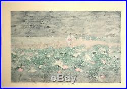 Hasui Kawase Japanese Woodblock Print Shiba Benten Pond Shin Hanga