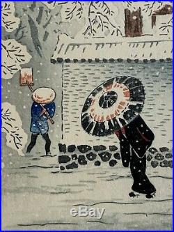 Hiroaki Takahashi Shotei Antique Japanese Woodblock Print Shin Hanga Mint