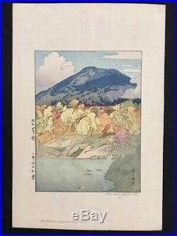 Hiroshi Yoshida Autumn Japanese Woodblock Print