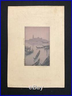 Hiroshi Yoshida Evening Venice Japanese Woodblock Print