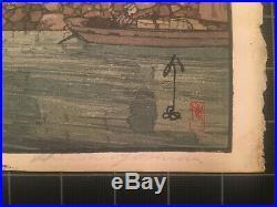 Hiroshi Yoshida HAYASE Japanese Woodblock Beautiful Color and Impression
