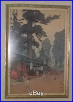 Hiroshi Yoshida Japanese Woodblock Print Way to Kasuga Shrine