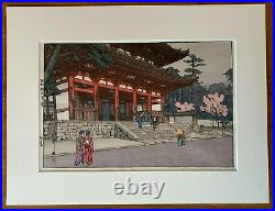 Hiroshi Yoshida Japanese Woodblock Temple at Omuro No Reserve
