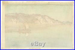 Hiroshi Yoshida, Original Japanese Woodblock Print, Island