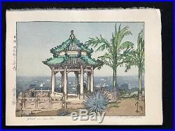 Hiroshi Yoshida -Park In Canton Japanese Woodblock Print Jizuri
