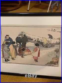 Hiroshi Yoshida Signed Woodblock Print Japanese