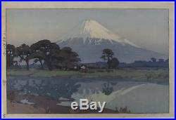 Hiroshi Yoshida Suzakawa Japanese Woodblock Print 1935 (Jizuri)