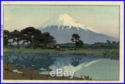 Hiroshi Yoshida Suzakawa Japanese Woodblock Print 1935 Jizuri Fuji