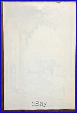 Hiroshi Yoshida Udaipur Japanese Woodblock Print Jizuri