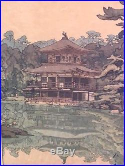 Hiroshi Yoshida Woodblock Print with Japanese Signature