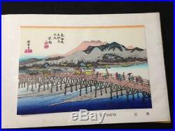 Hiroshige Tokaido 53 Woodblock 55 Prints Set Unso-do Japan Ukiyo-e Antique F/S
