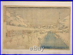 Hiroshige oban toto mesho Japanese Woodblock Print Ukiyo-e