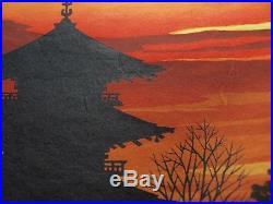 IDO MASAO Orig JAPANESE Woodblock Print To-ji Hand Signed Limited Ed
