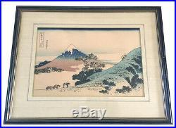 Inume Pass, Ksh Thirty-Six Views of Mt. Fuji, HOKUSAI Japanese woodblock print