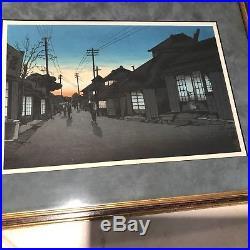 Ishiwata Koitsu (Japanese, 1897-1987) Twilght at Imamira Street Woodblock Print