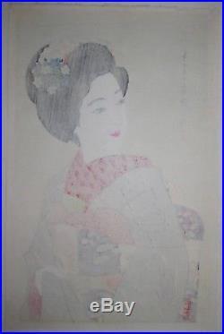 Ito Shinsui Maiko Girl Japanese Woodblock Print 1932