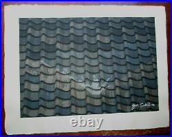 JUNICHIRO SEKINO-Japanese Woodblock Print-Tokaido Road-Slate Roof Fuji-Nara
