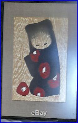 Japan Print Society Japanese Woodblock Kaoru Kawano Camellia