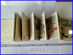 Japanese Shunga Paper picture on Book UKIYOE Erotic woodblock print-b927