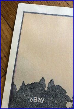 Japanese Toshi Yoshida(1911-1995) Morinji In Spring Original Woodblock Print