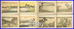 Japanese Wood Block Print Album ukiyoe Hiroshige Utagawa rare