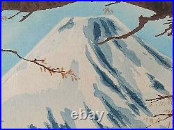 Japanese Wood Block Print Mt. Fuji Tokuriki