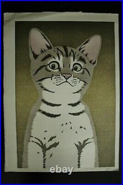 Japanese Woodblock Print Cat