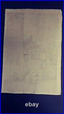 Japanese Woodblock Print Hiroshi Yoshida Jizuri
