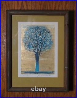 Japanese Woodblock Print, Joichi Hoshi, Evening Tree
