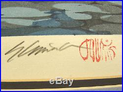 Japanese Woodblock Print Katsuyuki Nishijima REMAINING LIGHT 55/500 Signed