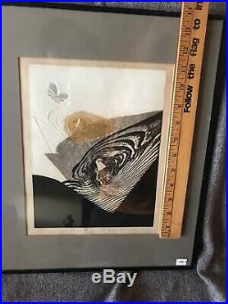 Japanese Woodblock Print Reika Iwami Butterfly in the Valley 73/100 RARE