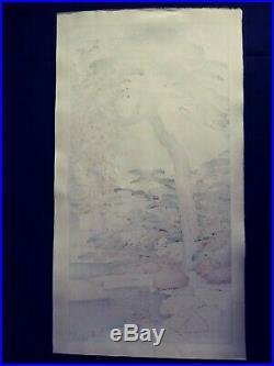 Japanese Woodblock Print Toshi Yoshida