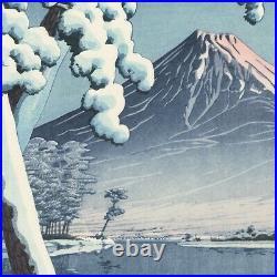 Japanese Woodblock Print by Kawase Hasui Clearing after a Snowfall on Mt. Fuji