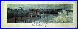 Japanese Woodblock by Joshua Rome Moonlight on the Water Artist's Proof 1 of 4