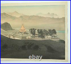 Japanese Woodblock by Pieter Irwin Brown (1903-1988), Jehol, Manchuria c. 1937