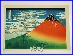 Japanese ukiyo-e HOKUSAI hand-printed woodblock print Fugaku Sanjurokkei F-32
