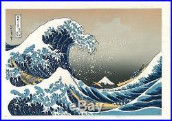 Japanese woodblock print Ukiyoe Hokusai Mt. Fuji RECUT WATANABE GREAT WAVE