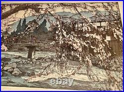 Japanese woodblock print hiroshi yoshida