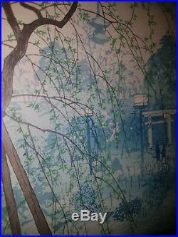 Japanischer-Farbholzschnitt- Old Japanese woodblock print Kasamatsu Shiro