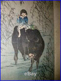 Japanischer-Farbholzschnitt- Old Japanese woodblock print Shoda Koho