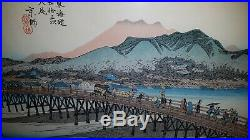 Japanischer-Farbholzschnitt Old Japanese woodblock print Utagawa Hiroshige