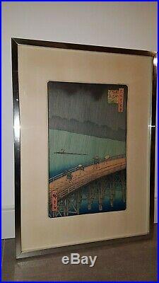 Japanischer-Farbholzschnitt- Old Japanese woodblock print Utagawa Hiroshige