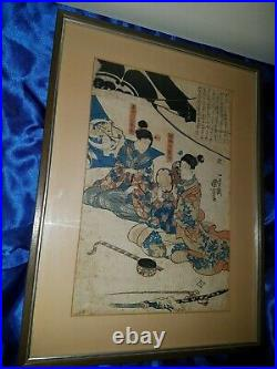 Japanischer-Farbholzschnitt- Old Japanese woodblock print Utagawa Kuniyoshi