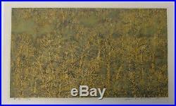 Joichi Hoshi Forest (Yellow) Large Japanese Woodblock Print 1975