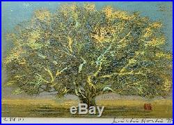 Joichi Hoshi Great Tree 1975 Woodblock Print